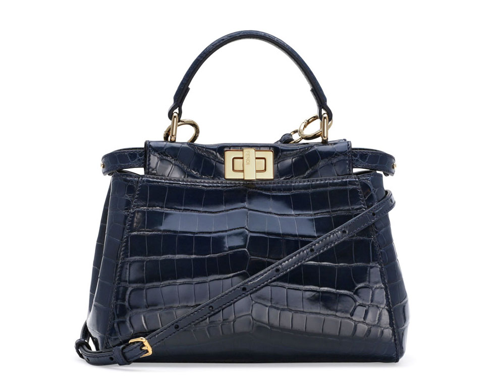 Fendi Mini Ostrich Peekaboo Bag
