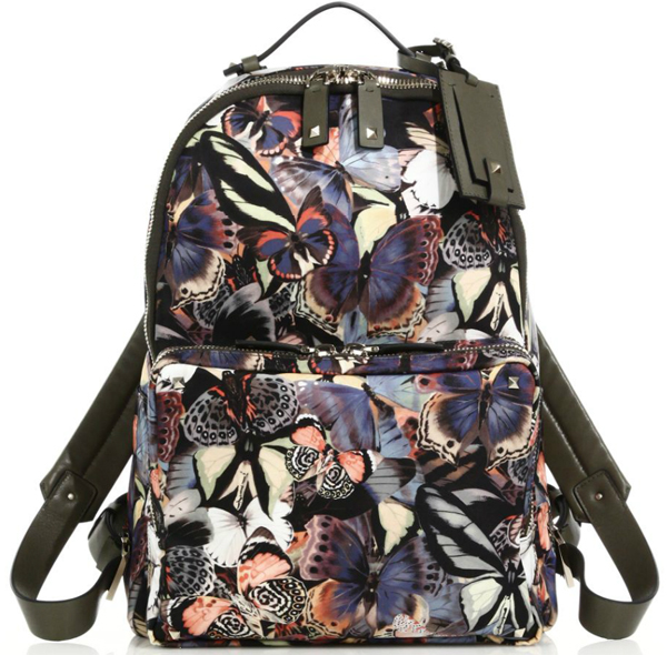 Valentino Camubutterfly Nylon Backpack