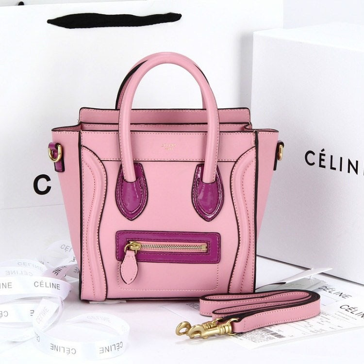 Pink leather celine nano luggage tote replica - High Quality Replica ... 09593a58b9af4
