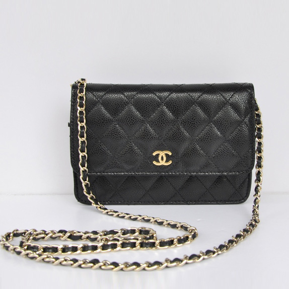 Black Lambskin Chanel Mini Bags Cross Body Bag Replica