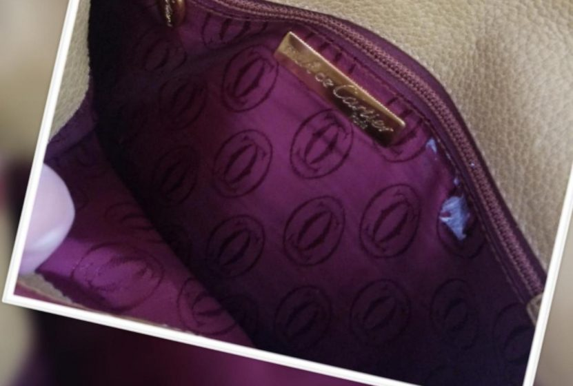 7580016bb961 For Sale Replica Bags Cartier Vintage Shoulder Or Mustard and Burgundy  Color Leather Cross Body Bag