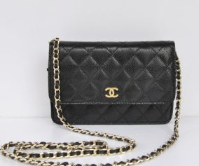 Replica Chanel Mini bags 33814 Black Lambskin Cross Body Bag