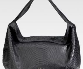 Furla Loira Tracolla Stamped Leather Hobo